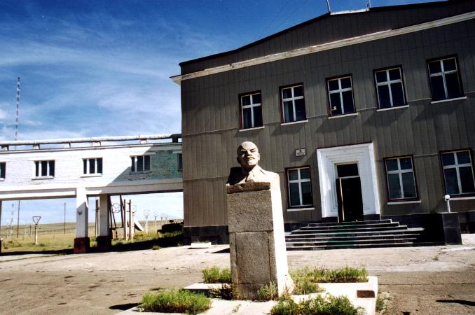 Radio transmitting centre at khonkhor lenin still keeps watch